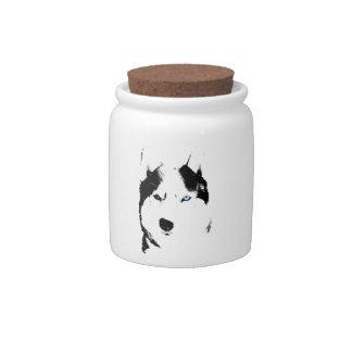 Husky Jar Siberian Husky Malamute Gifts Candy Jar