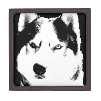 Husky Jewelry Box Husky Sled Dog Eyes Gift Box Premium Jewelry Boxes