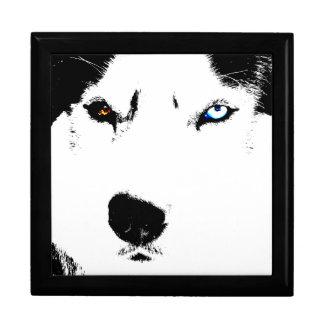 Husky Jewelry Box Siberian Husky Pup Sled Dog Box