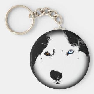 Husky Keychain Husky Malamute Dog Keychain Custom