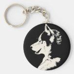 Husky Keychain Siberian Husky Malamute Gifts
