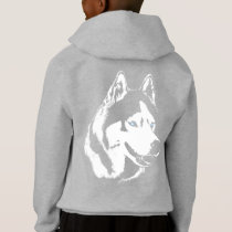 Husky Kid's Hoodie Kid's Wolf Dog Puppy Sweatshirt