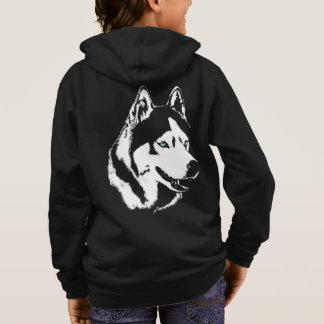 Husky Kid's Hoodie Kid's Wolf Dog Puppy Sweatshirt