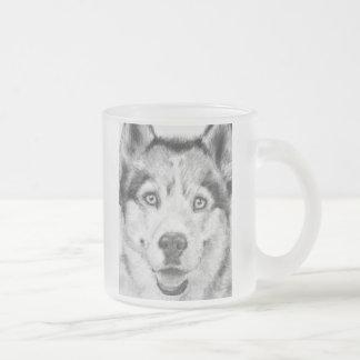 Husky Kowa.jpg Frosted Glass Coffee Mug