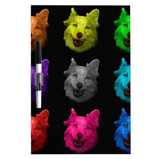 Husky Lab dog art 5068 BB Dry Erase Board