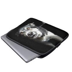 Neoprene Laptop Sleeve 13 inch with Siberian Husky Phone Cases design