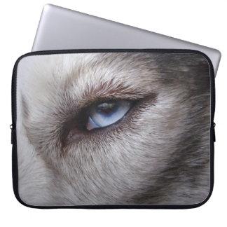 Husky Laptop Case Siberian Husky Blue Eyes Gifts Computer Sleeves