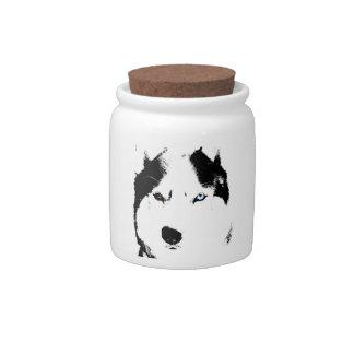Husky Malamute Candy Jar Custom Sled Dog Jars