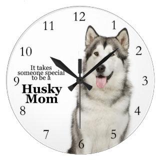 Husky Mom Clock