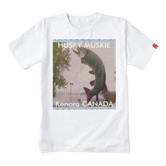 Husky Muskie FISH Statue Canadian heritage roadsho Zazzle HEART T-Shirt
