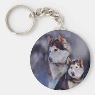 Husky - Night Spirit Keychain