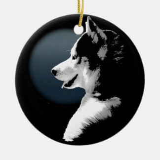 Husky Ornament Personalized Wolf Dog Decoration