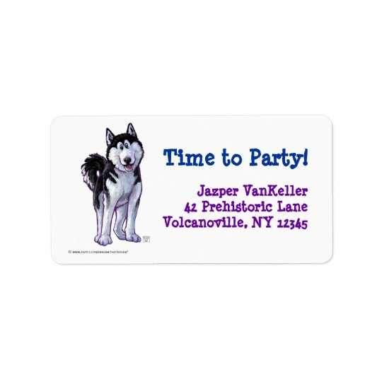 Husky Party Center Label