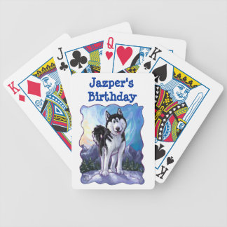 Husky Party Center Playing Cards
