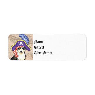 Husky Pirate Label