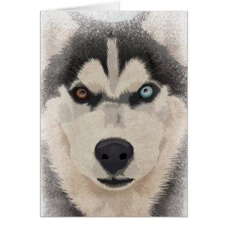 Husky portait card