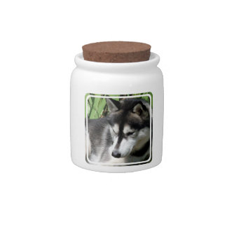 Husky Profile Candy Jar