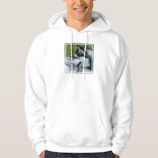 Husky Profile  Hooded Sweatshirt
