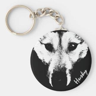 Husky Pup Keychain Husky Wolf Dog Custom Keychains