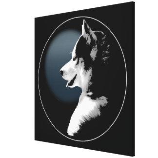 Husky Pup Print Siberian Husky Dog Canvas Print
