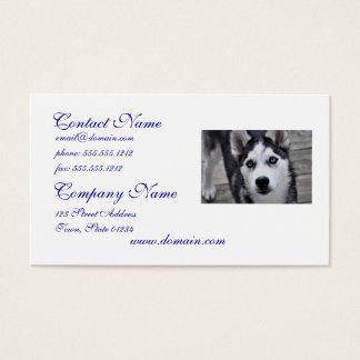 Husky Puppy Business Cards