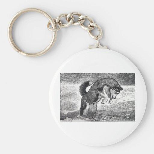 Husky Puppy Keychain