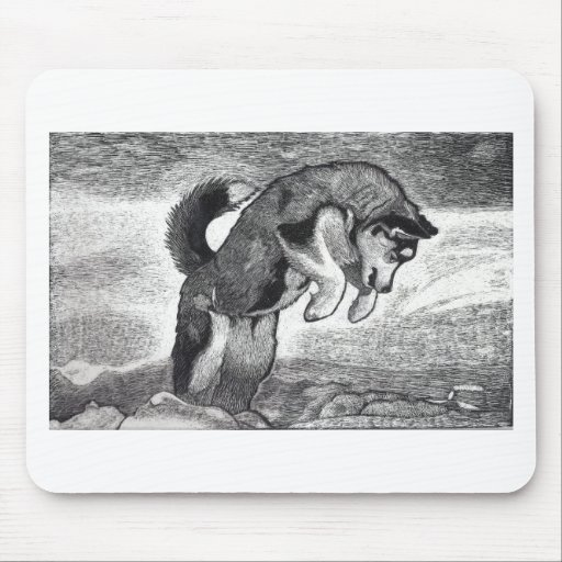 Husky Puppy Mouse Pad