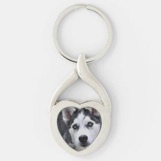 Husky Puppy Keychains