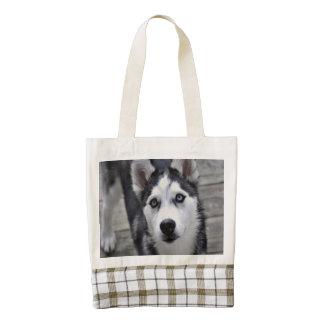 Husky Puppy Zazzle HEART Tote Bag