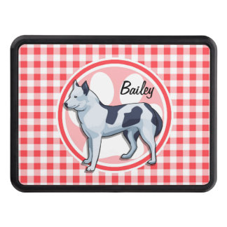Husky; Red and White Gingham Hitch Cover