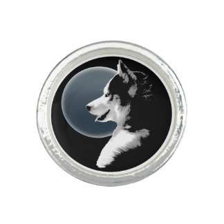 Husky Ring Siberian Husky Malamute Sled Dog Ring