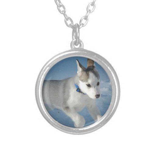 Husky Round Pendant Necklace
