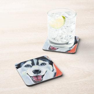 Husky Ruff Pet Art Coasters