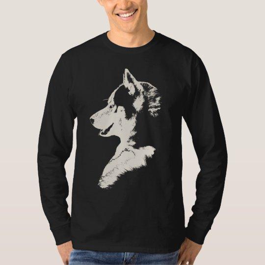 Husky Shirt Wolf Art Long Sleeve Tee Dog Shirts