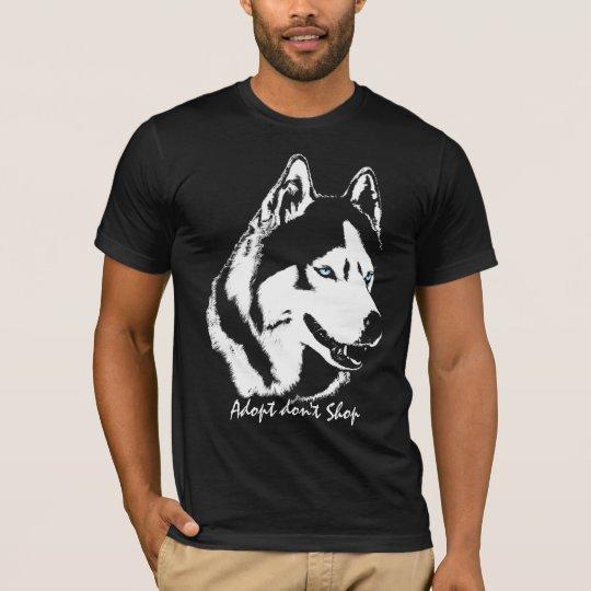 Husky Shirts Adopt Don't Shop Rescue Dog Shirt