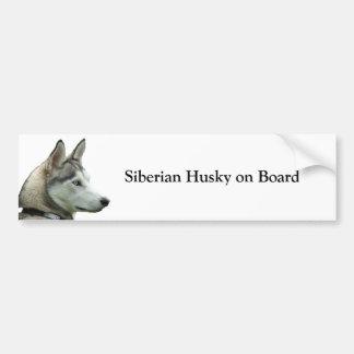 Husky siberiano a bordo pegatina para el parachoqu pegatina para auto