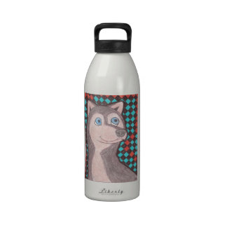 Husky siberiano botellas de beber