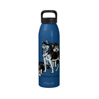 husky siberiano botella de beber
