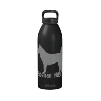 Husky siberiano botella de agua