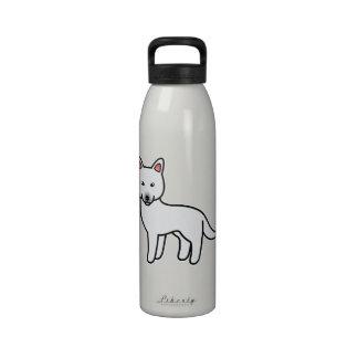 Husky siberiano blanco del dibujo animado botella de beber