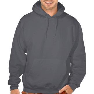 Husky siberiano blanco en el suéter con capucha sudadera