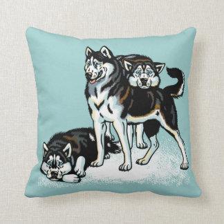 husky siberiano almohadas