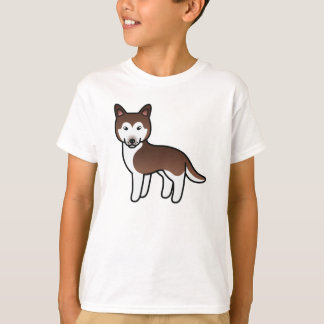 Husky siberiano de cobre del dibujo animado remera