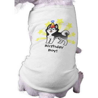 Husky siberiano del cumpleaños Malamute de Alaska Ropa Perro