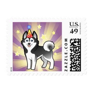 Husky siberiano del cumpleaños/Malamute de Alaska Franqueo