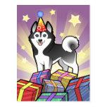 Husky siberiano del cumpleaños/Malamute de Alaska Postales