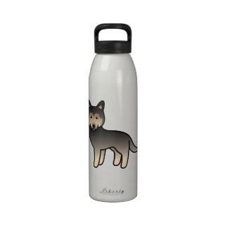 Husky siberiano del dibujo animado del Agouti Botella De Agua