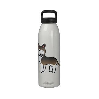Husky siberiano del dibujo animado del Sable Botallas De Agua