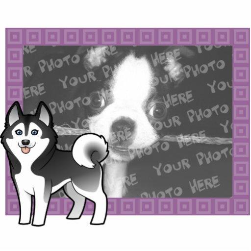 Husky siberiano del dibujo animado/Malamute de Ala Esculturas Fotográficas