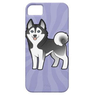 Husky siberiano del dibujo animado/Malamute de Ala iPhone 5 Case-Mate Protectores
